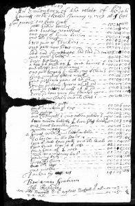 Abda Duce-Ginnings' estate inventory