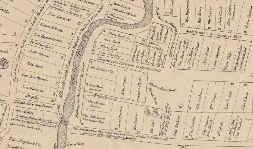 "Excerpt of William S. Porter, ""Hartford Map 1640"""