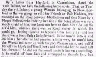 Jack's Attack on Mrs Andrews Boston News-Letter June 23, 1743