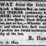 Noble Spencer Mulatto Boy Indentured 1803