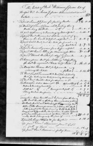 Jepson's Probate Inventory, enumerating charges for his funeral, etc.