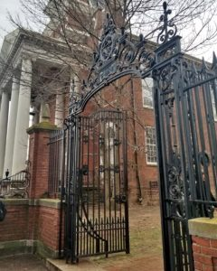 Gates to the Ancient Burying Ground on Main St.