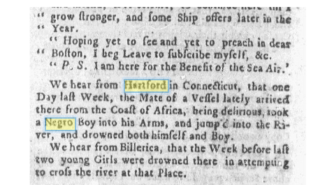 Massachusetts Gazette and Boston Newsletter, Jan. 7 1762